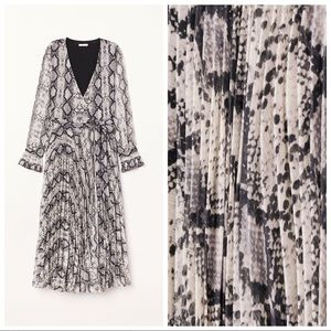 H&M Snake Skin Pleated Dress